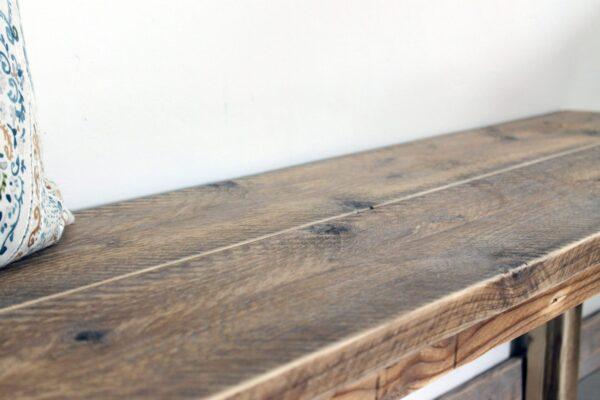 Rustikale Bank aus Holz