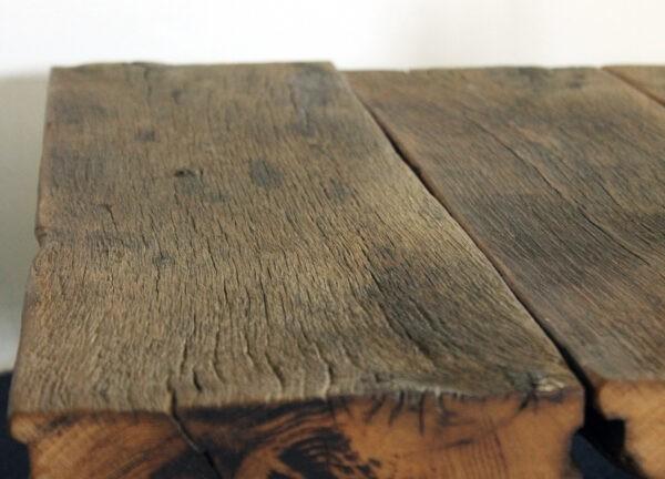 Rustikaler Wohnzimmertisch aus Eichenholz